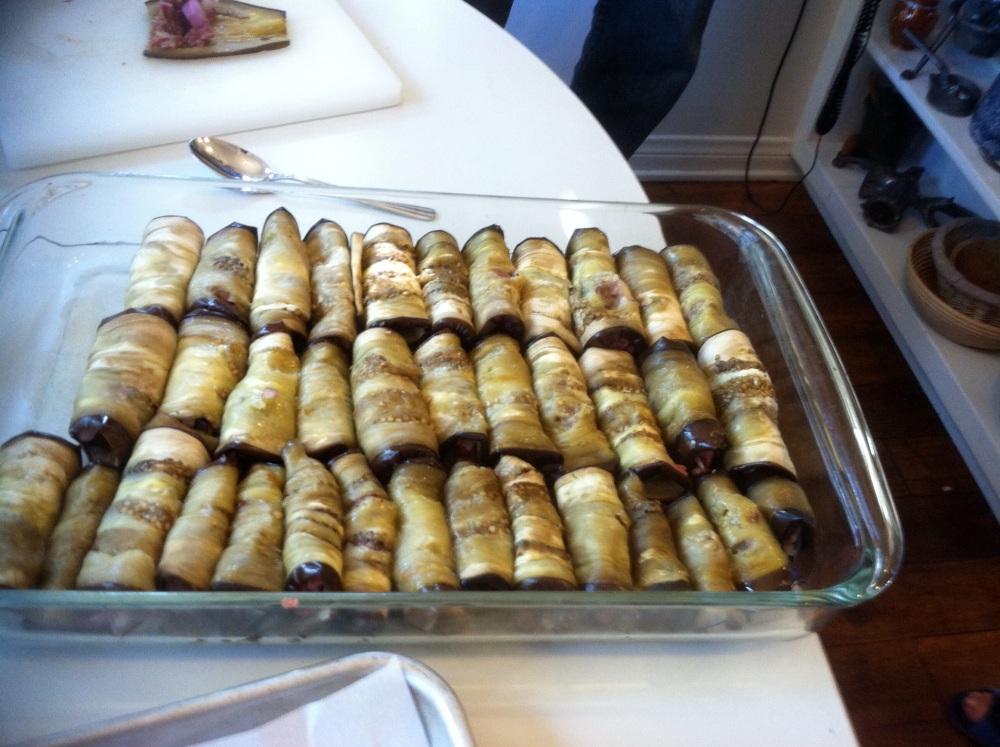 Stuffed Eggplant Rolls (1/2)